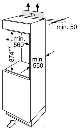 Integreeritav külmik Bosch KIL18NSF0