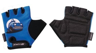 Force Kid Auto Short Gloves Blue/Black L