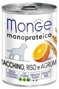 Monge Monoproteinic Fruits Pate Turkey/Citrus 400g