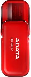 USB mälupulk ADATA UV240 Red, USB 2.0, 32 GB