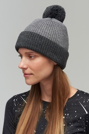 Audimas Soft Knitted Hat With Wool Grey