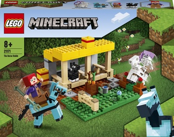 Konstruktor LEGO Minecraft The Horse Stable 21171, 241 tk