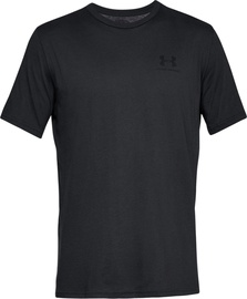 Under Armour Mens Sportstyle Left Chest SS Shirt 1326799-001 Black L