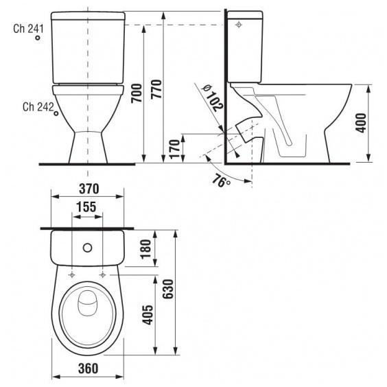 WC-pott Jika Lyra Plus 26384