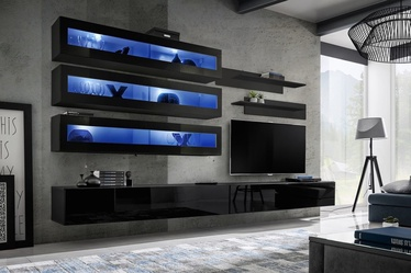 ASM Fly J2 Living Room Wall Unit Set Black