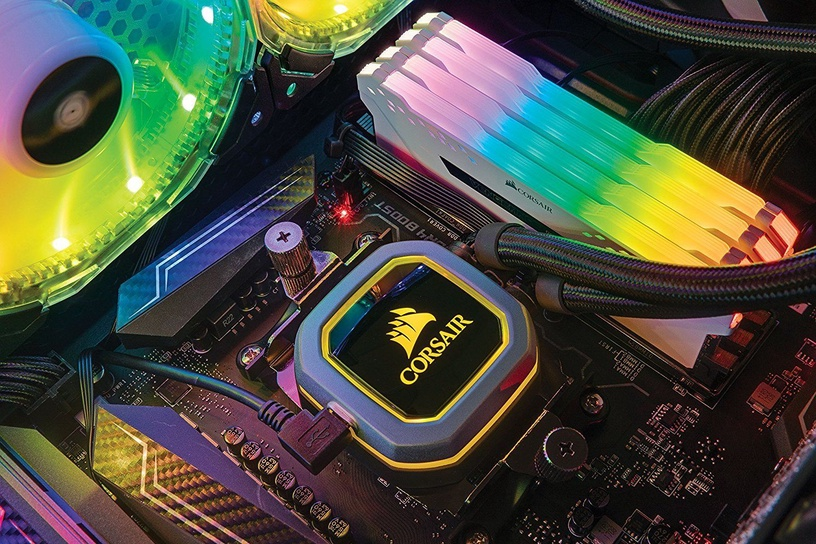 Corsair Vengeance RGB Pro White Series 64GB 2666MHz CL16 DDR4 KIT OF 8 CMW64GX4M8A2666C16W