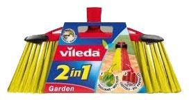Vileda Outdoor Broom 2 in 1 with Handle