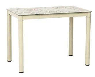 Обеденный стол Signal Meble Modern Damar, кремовый, 800x600x750мм