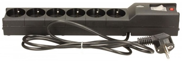 Lestar Surge Protector 6 Outlet Black 1.5m