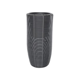 Home4you Wicker Flowerpot D21x36cm Dark Grey