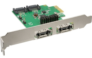 InLine Interface Card PCIex1 For 2x SATA 6G/2x eSATA 6G