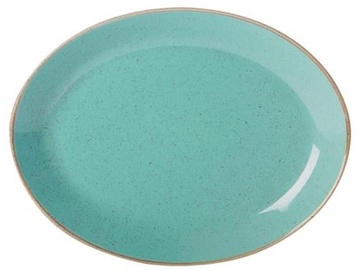 Porland Seasons Oval Plate 23.7x31cm Turquoise