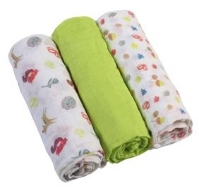 BabyOno Muslin Diapers Super Soft Green 3pcs