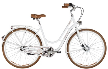 "Jalgratas Kenzel Nostalgic Deluxe, valge, 19"", 28"""