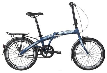 """Jalgratas Kross Flex 3.0 20"""" Navy Blue Graphite Matte 18"""