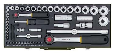 Proxxon Socket Set 23040 1/2 1/4 55pcs