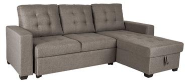 Угловой диван Home4you Taylor 42812, коричневый, 233 x 160 x 91 см