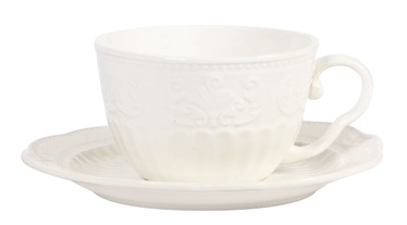 Home4you Sofia Cup With Saucer White 6pcs