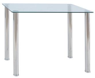 Обеденный стол Signal Meble Modern Ted, прозрачный/хромовый, 1000x600x750мм