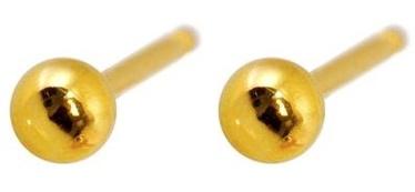 Caflon Fashion Sense Earrings 3mm Ball Gold Plated