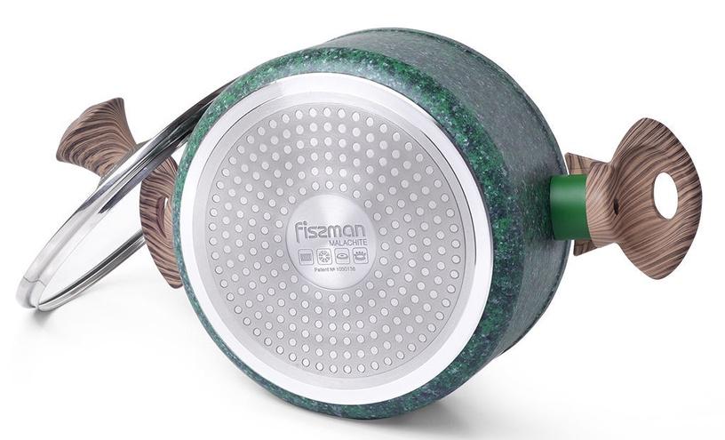 Fissman Magic Brown Casserole With Glass Lid D20cm 2.7 Green