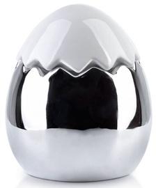 Mondex Lila Decoarative Egg White/Silver 13x15cm