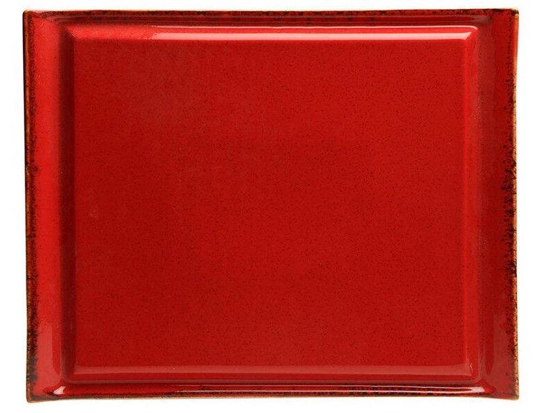 Porland Seasons Steak Plate 32.4x25.9cm Red