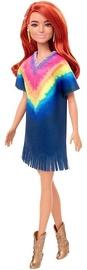 Nukk Mattel Barbie Fashionistas Long Red Hair & Tie Dye Fringe Dress GHW55