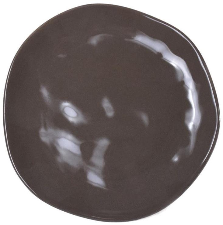 Bradley Ceramic Plate Organic 26cm Brown
