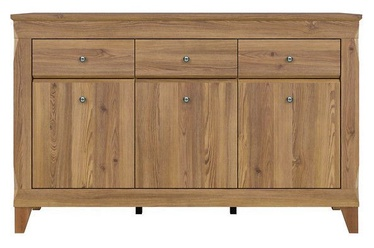 Black Red White Bergen Chest Of Drawers 47x156x98cm Golden Larch