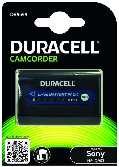 Duracell Premium Battery For Sony Camcorder TR208/TR408 2800mAh