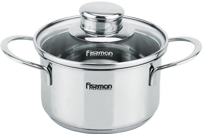 Fissman Pot Bambino Stainless Steel 14x7.5cm With Lid 1.1L 5274