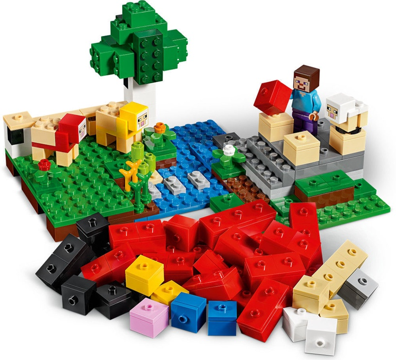Konstruktor Lego Minecraft The Wool Farm 21153