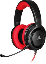 Corsair HS35 Over-Ear Gaming Headset Black/Red