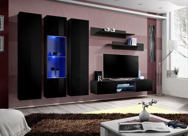 ASM Fly P5 Living Room Wall Unit Set Black