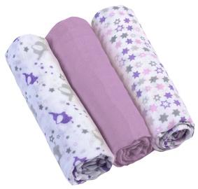 BabyOno Muslin Diapers Super Soft Purple 3pcs