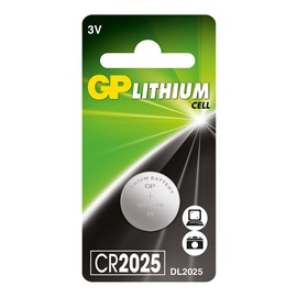LIITIUM NUPPU RAKU GP CR2025 3V
