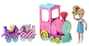 Mattel Barbie Chelsea Club With Train And Pets FRL86