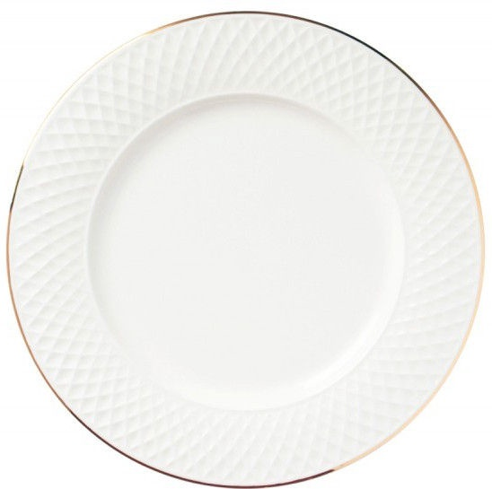 Quality Ceramic E Clat Dessert Plate Gold 21cm