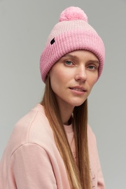 Audimas Soft Knitted Hat With Wool Light Pink