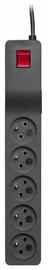 Lestar ZX 510 Surge Protector 5 Outlet Black 1.5m