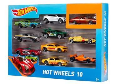 MÄNGUAUTO KOMPLEKT HOT WHEELS 10TK 54886