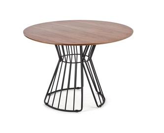 Обеденный стол Halmar Bristol Walnut, 1100x1100x750 мм