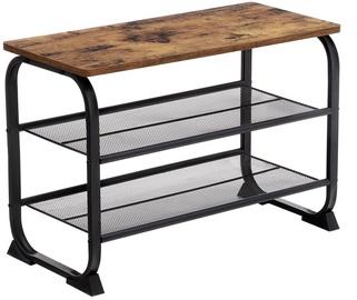 Шкаф для обуви Songmics Storage, коричневый/черный, 660x300x475 мм