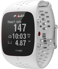 Polar M430 GPS Running Watch S White