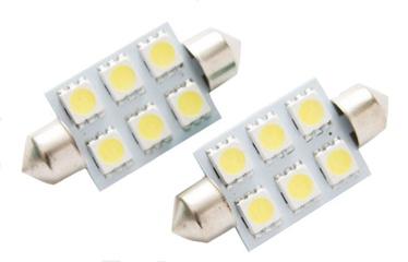 Bottari LED C5W 12V T11 6SMD Festoon White 2pcs 17876