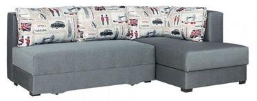 Угловой диван Bodzio Judyta Grey/London 1, правый, 225 x 155 x 77 см