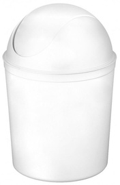 Plast Team Swing Round Waste Basket 21.3x21.3x31.5cm 5l White