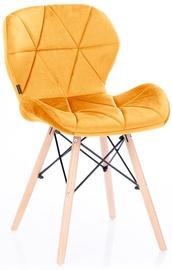 Söögitoa tool Homede Silla Velvet Yellow, 4 tk