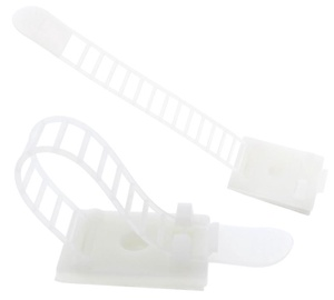 Ohne Hersteller Cable Clamp x 10 64mm White